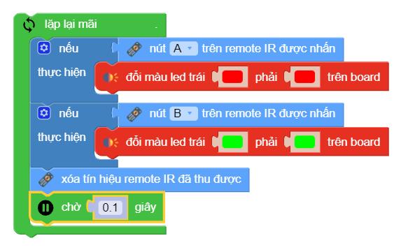 Lập trình xBot - điều khiển đèn từ xa đổi màu