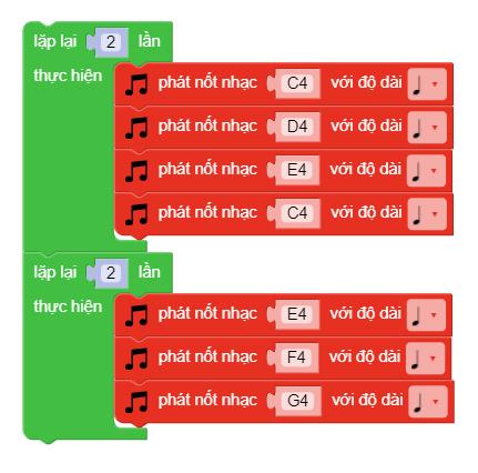 Lập trình phát ra một giai điệu trên xBot