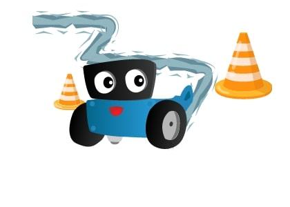 Robot dò đường kết hợp né vật cản