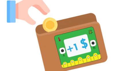 Làm ví thông minh có thể đếm tiền cùng Yolo:Bit